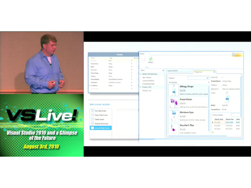 VSLive 2010 Day 1 Keynote: Visual Studio 2010 and a Glimpse of the Future