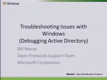 Troubleshooting Windows Issues (AD Plugfest) 2010