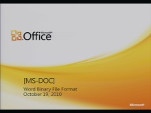 MS-DOC Binary File Format Presentation