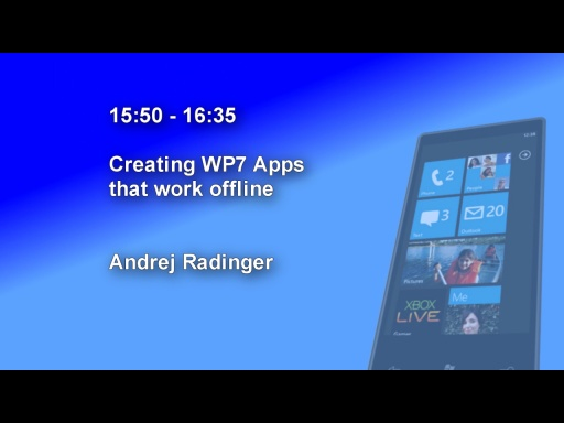 DDD Windows Phone 7 Event - Session 8