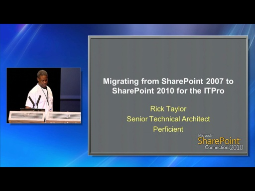 Migrating from SharePoint 2007 to SharePoint 2010 for the IT Pro