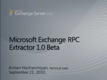 Exchange RPC Extractor v1 Beta