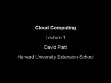 Introduction to Cloud Computing by David Platt