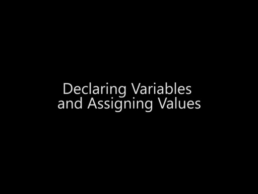 Declaring Variables and Assigning Values - Day 1 - Part 9
