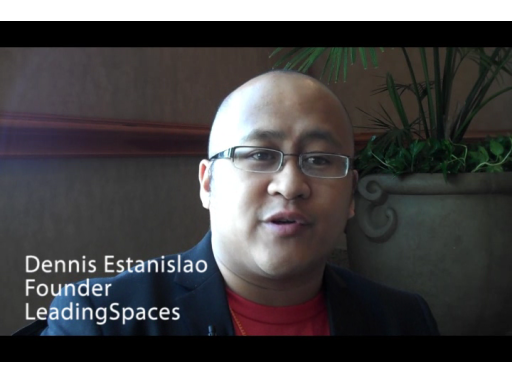 Dennis Estanislao from LeadingSpaces talks with Murray Gordon at MIX10