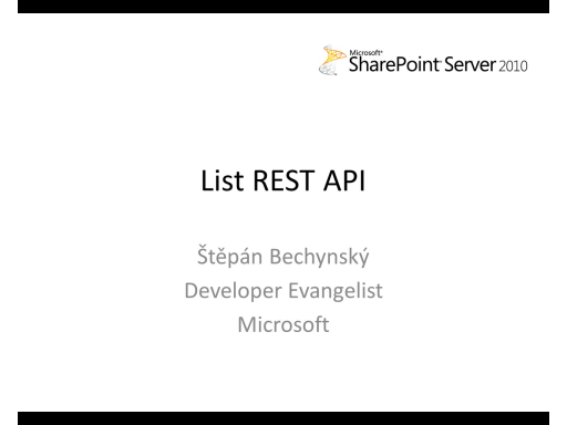 SharePoint Server 2010 - List REST API