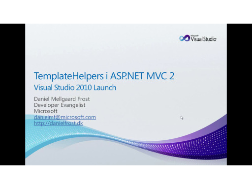 MVC 2 – Template Helpers