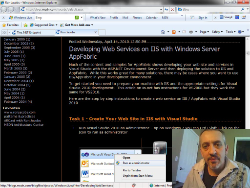 endpoint.tv - Developing Web Services with IIS/AppFabric