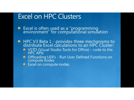 Windows HPCS 2008R2 Beta1:Excel on the Cluster
