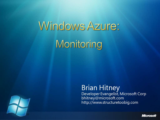 Azure Miniseries #4: Monitoring Applications
