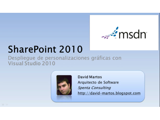 SharePoint 2010 - Despliegue de personalizaciones gráficas con Visual Studio 2010
