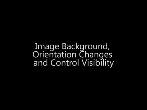 Image Background, Orientation Changes and Control Visibility - Day 3 - Part 11