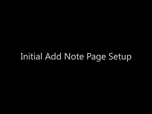 Initial Add Note Page Setup - Day 4 - Part 6