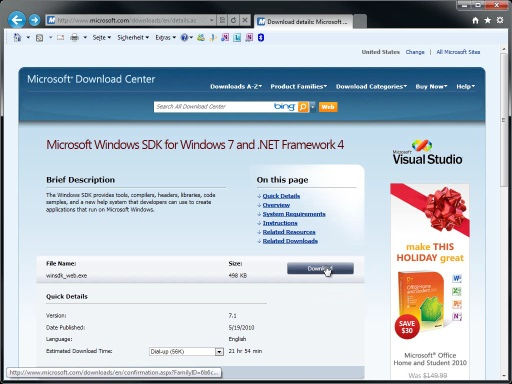 Windows 7: Windows Software Development Kit