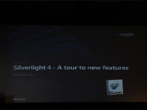 DevDays 2010: Silverlight 4 - A tour to new features - Radenko Zec