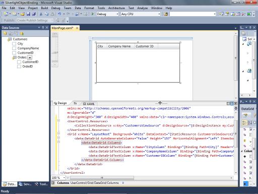 Silverlight Object Binding in Visual Studio 2010 Beta 2