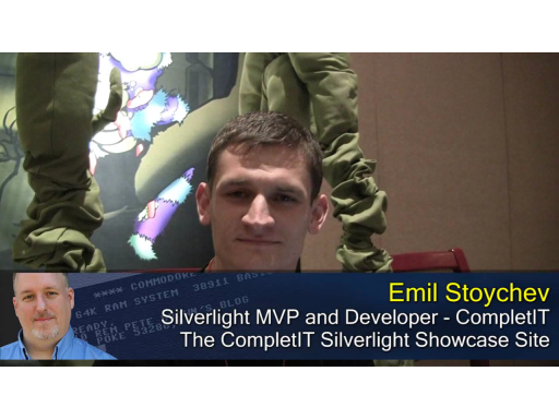 Pete at MIX10: Emil Stoychev on the CompletIT Silverlight Site