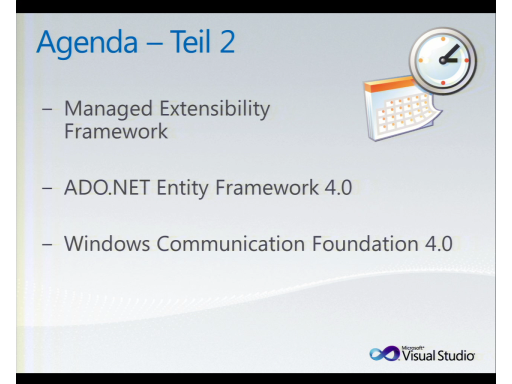 Teil 2: MSDN Briefing Juni 2010: Visual Studio 2010 und .NET 4.0