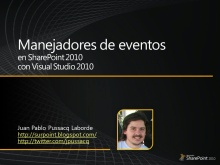 Manejadores de Eventos en SharePoint 2010 con Visual Studio 2010