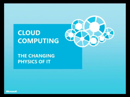 Architect Forum - Cloud Computing - Changing the physics of IT