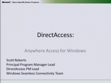 Direct Access:  Anywhere Access for Windows 2010