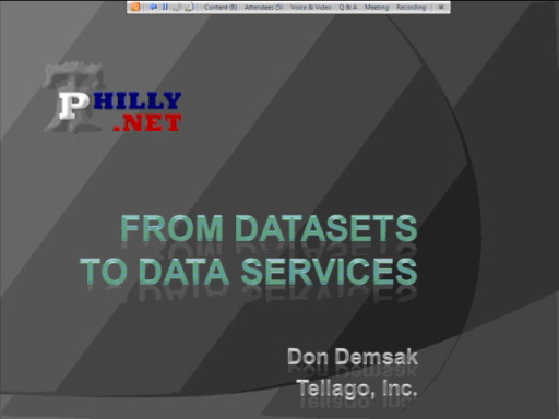 Moving From the DataSet to Data Services