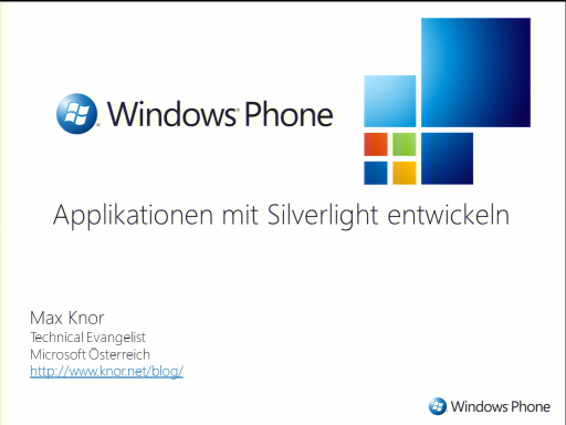 MSDN Briefing Windows Phone Development - Teil 2