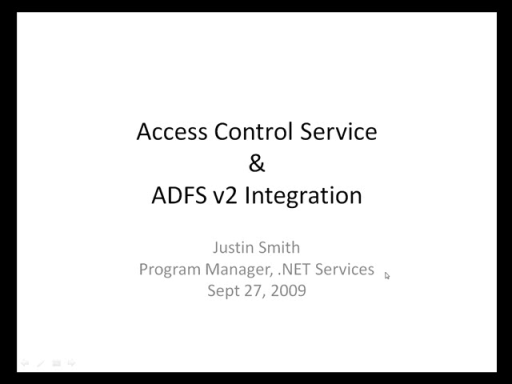 Access Control Service and ADFS v2 Integration
