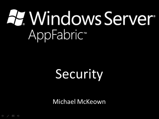 endpoint.tv - Windows Server AppFabric Local Security