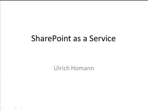 SACVIE 2010: Delivering SharePoint as a Cloud Service