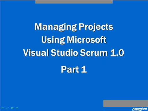 Introducing Visual Studio 2010 Scrum 1.0