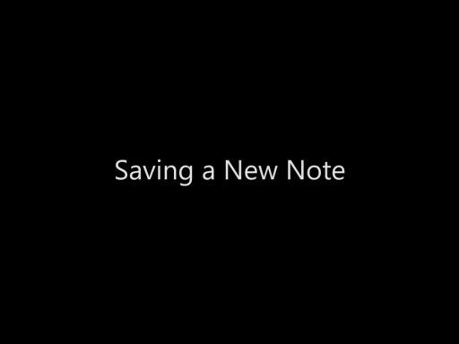 Saving a New Note - Day 4 - Part 8
