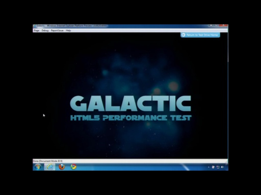 Internet Explorer 9 Platform Preview 7: HTML5 Galactic