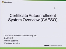Certificate Autoenrollment System Overview (MS-CAESO)  2010