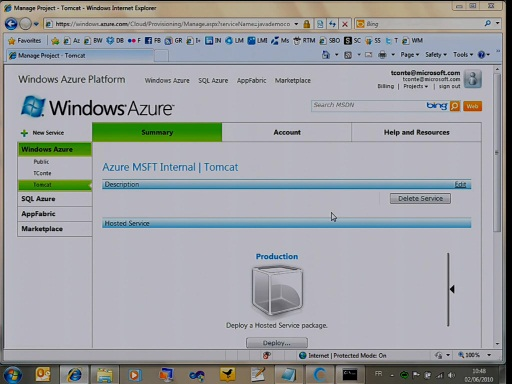 Déployer une application Java sous Tomcat dans Windows Azure
