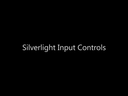 Silverlight Input Controls - Day 2 - Part 12