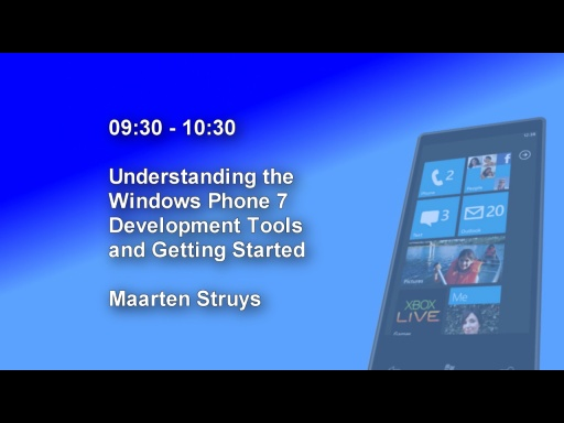 DDD Windows Phone 7 Event - Session 1