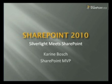 MSDN Live Meeting Silverlight meets SharePoint 2010