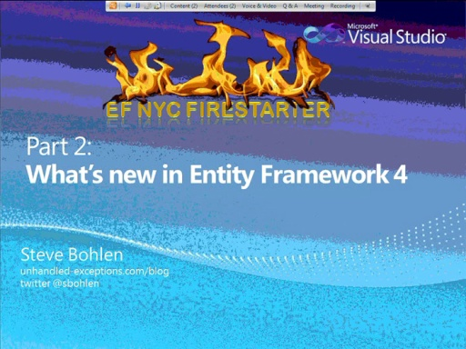 Entity Framework Firestarter - Session 2 (of 6)