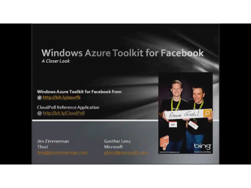 Gunther Lenz interviews Jim Zimmerman, CTO of Thuzi and author of the Windows Azure Toolkit for Facebook