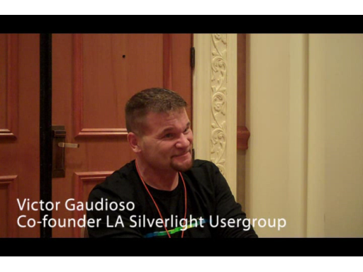 Victor Gaudioso talks Silverlight 4 with Murray Gordon at MIX10