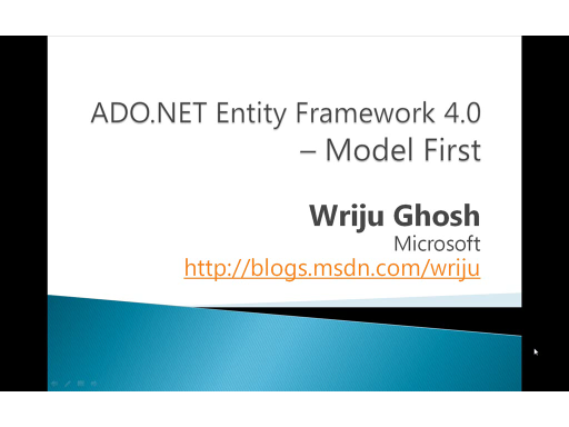 Model First in ADO.NET Entity Framework 4