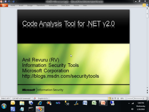 Using the Code Analysis Tool (CAT.NET 2.0) to Identify Security Vulnerabilities