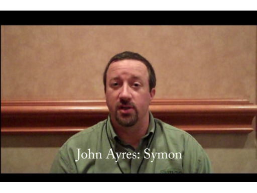 John Ayres of Symon Communications talks with Jared Bienz at MIX10