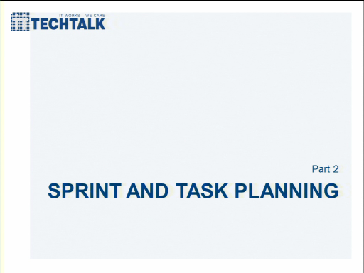 MSDN Briefing: Behavior Driven Development - Part 2 - Sprint and Task Planning