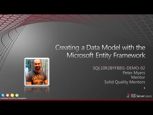 Demo: Creating a Data Model with the Microsoft Entity Framework