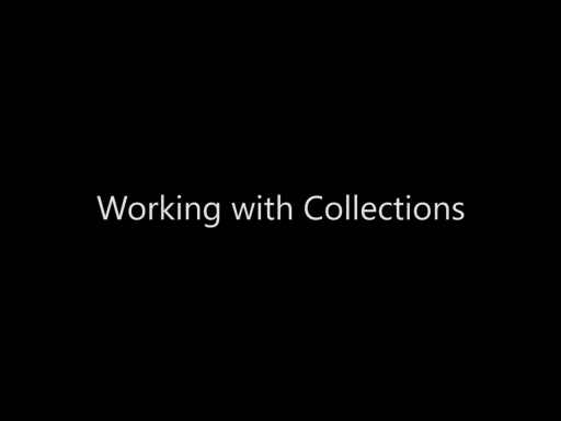 Working with Collections - Day 2 - Part 6