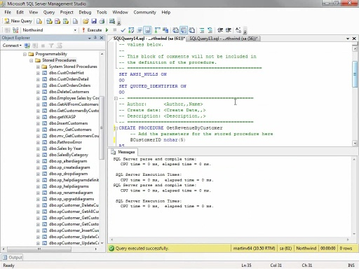 SQL Server Stored Procedures debuggen