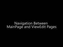 Navigation Between MainPage and ViewEdit Pages - Day 4 - Part 10