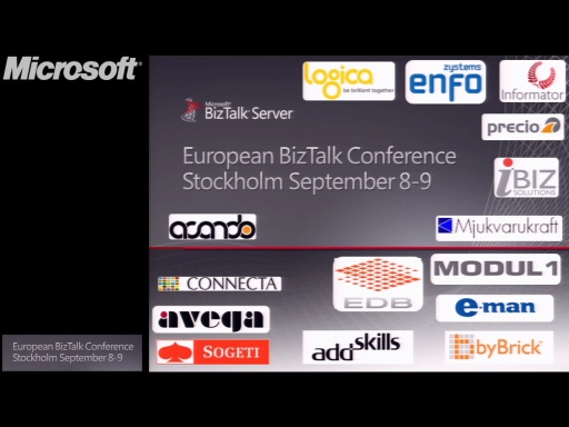 Introduction: BizTalk Conference Stockholm September 8-9